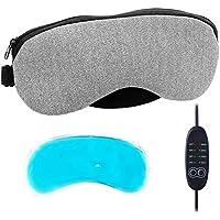 AOOPOO Beheizte/Cool Schlafmaske Einstellbare Temperaturregelung PU-Leder Augen-Abdeckung Maske für Entlasten... preisvergleich bei billige-tabletten.eu