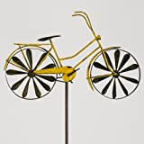 colourliving Windspiel Fahrrad Metallwindrad Bicylce Yellow, Garten, Deko Windrad