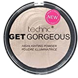 TECHNIC GET GORGEOUS HIGHLIGHTER Shimmer Compact Highlighting Shimmering Powder by Technic, Rosa Chiaro (Light pink)