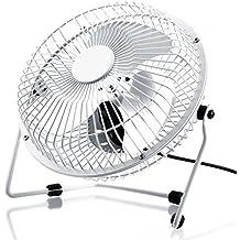 CSL - USB Ventilador / Fan | ventilador de mesa | carcasa / aspas de metal | PC / portátil | en blanco