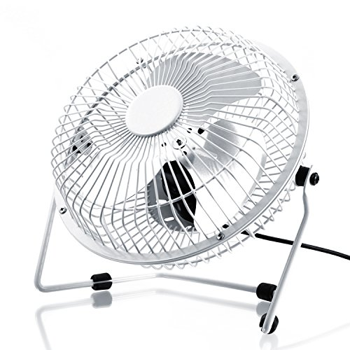 CSL–USB Ventilator | Lüfter Desktop-/Fan | Rahmen/Flügel aus Metall | für Computer/Notebook | weiß