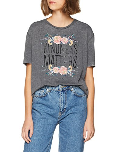 ONLY Damen T-Shirt onlOLIVIA S/S Beautiful/Kindness Box JRS, Schwarz (Black Print: Kindness1), 42 (Herstellergröße: XL)