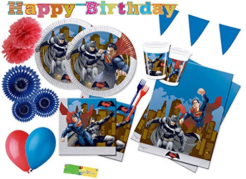DECORATA PARTY Kit N 62 Coordinato compleanno Batman