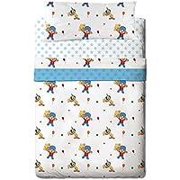 Zinkia Pocoyo Circus - Juego de sabanas 3 piezas para cama de 90 cm