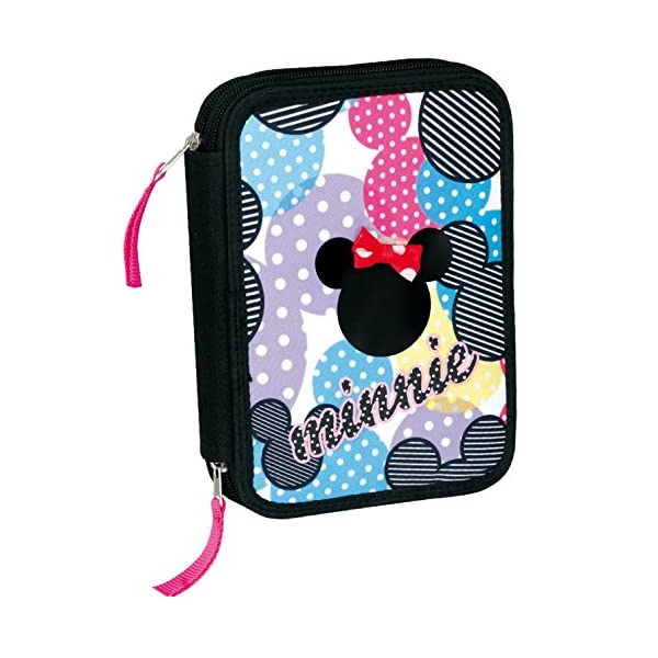 Minnie – Plumier 12 Doble, Multicolor (Montichelvo Industrial 21278)