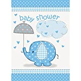 Unique Party - Invitaciones para Fiesta - Baby Shower con Elefante Azul - Paquete de 8 (41714)