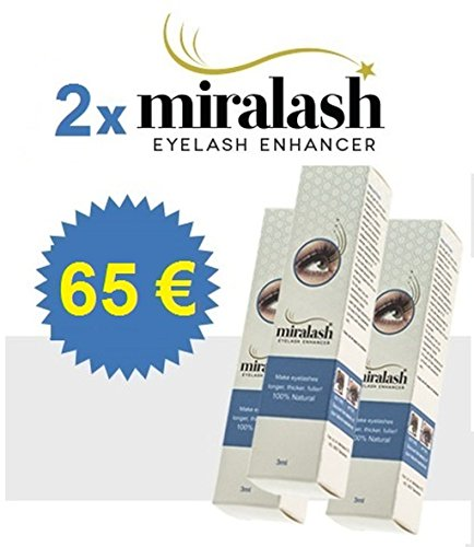 2x Miralash 3 ml Conditioner für Wimpern langen dichte Wimpern SERUM (Conditioner Wimpern)
