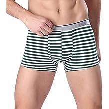 Ropa Interior de Hombres ���� Yesmile Sexy Pantalones Cortos Blandos Cuadrados Estampados Bragas de Boxer a Rayas de… hQnod