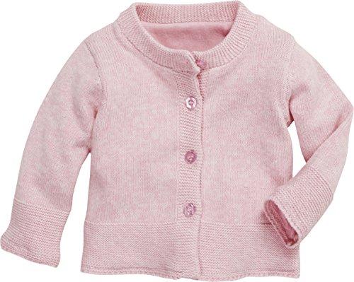 Schnizler Unisex Baby Erstlingsstrickjacke Strickjacke, Rosa 14, 50 -