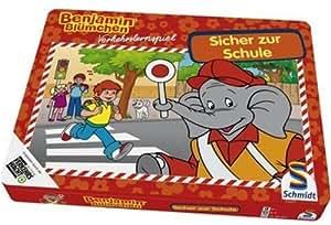 Schmidt Spiele - Benjamin Blümchen: Sicher zur Schule, Verkehrserziehungsspiel in Metalldose