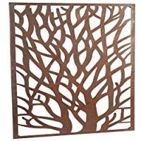 Farm and Garden Wonderful Rustic Core-Ten Steel Garden Metal Tree 1.77m Tall-Ideal for a Screen Fence or Wall mounting and Climbing Plants, Patina