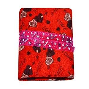 Creative Textiles Fabric Cardboard Photo Album (4 x 6 inch, Red)