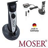 Rotschopf24: Sehr handlicher + leichter Moser Profi Akku Trimmer / Haarschneider mit breitem T-Blade Schneidsatz, 0,4mm. 3955