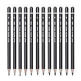 Baoblaze 12 Pièces 10B 8B 6B 5B 4B 3B 2B B HB H 2 H 3 H Crayons Croquis Graphite Professionnel Croquis Crayons Définir Doux Et Velouté Finition Pour Dessin/Nuances/Clair/Foncé/Examinant