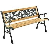 ArtLife 2 Sitzer Gartenbank Venezia aus lackiertem Holz und Gusseisen