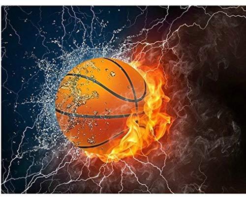 ZHAOHH Diamant mosaik Basketball 5d DIY Diamant malerei Cartoon vollbohrer runde Bild von heimtextilien 30x40cm -
