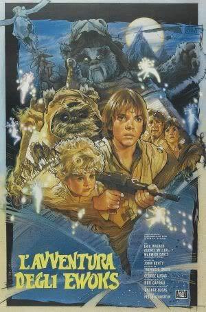 Star Wars AN EWOK Adventure Caravan of Courage - Italienisch Film Poster Plakat Drucken Bild - 43.2 x 60.7cm Größe Grösse Filmplakat