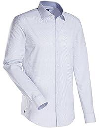 JACQUES BRITT Herren Hemd Slim fit Blue Label 1/1-Arm Bügelleicht Uni / Uniähnlich Fashion-Hemd Kent-Kragen Manschette weitenverstellbar