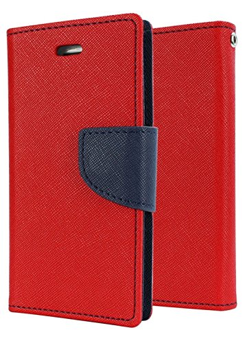 OTOVON Wallet Diary Flip Cover for Micromax YU Yureka AO5510 - Hot Red