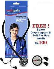 Healthgenie Hg-203B Doctors Dual Al Stethoscope Deluxe (Black)