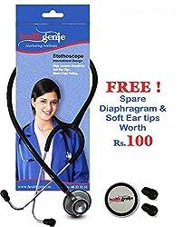 Healthgenie Doctors Dual Al Stethoscope DELUXE HG-203B (Black)...