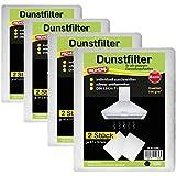 Dunstfilter im 8er Pack Dunstabzugshaubenfilter Fettfilter Filter Basic Qualität 100 g/m² oder Premium Qualität 150 g/m² ( Basic Qualität100 g/m² )