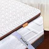 Inofia Matratzenauflage 120x200 Matratzentopper Memory Foam Topper Visco Mattress Topper 2cm Naturbrown Airyfoam+4cm Biogrey Reliefoam, 100 Nächte Probeschlafen,10 Jahre Garantie(120 x 200 cm)