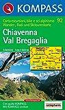 Carta escursionistica n. 92. Laghi settentrionali. Chiavenna, Val Beegaglia 1:50000