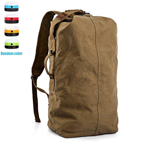 Ranbow della tela borsa da viaggio zaino di campeggio rampicante bagagli pacchetto, Cammello, 60 centimetri 60 centimetri Camel