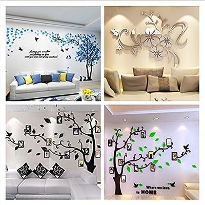 Alicemall Wandtattoo Wandaufkleber Wanddeko Acryl Chic Design 3D Wand Sticker mit Bilderrahmen