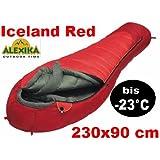 Alexika 77110 Iceland Sac de couchage sarcophage extrême pour températures jusque - 23°C Rouge