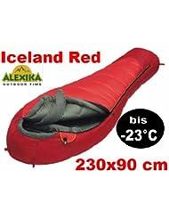 Alexika Extrem Schlafsack Mumienschlafsack - 23°C - Iceland Red für allerhöchste Ansprüche und extremsten Temperaturen - 77110