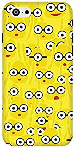 The Racoon Lean printed designer hard back mobile phone case cover for Apple Iphone 6 Plus/6s Plus. (Yellow Mon)