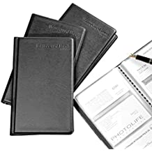 Callas Leather Business Card File 180 Pockets, Set of 2