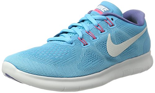 Nike Free Run 2017, Scarpe Running Donna, Multicolore (Chlorine Blue/off White-polarized Blue), 37.5 EU