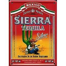 Sierra Tequila Mini de cartel de chapa Chapa Postal–8x 11cm nostálgico Retro placa metal tin sign