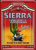 Sierra Tequila Mini-Blechschild Blechpostkarte - 8x11cm Nostalgieschild Retro Schild Metal tin sign