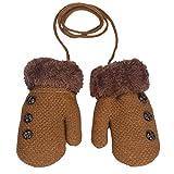 Fami Winter Lovely Baby Boy & Girl garder au chaud en tricot Mitaines (Kaki)
