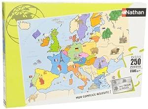 Nathan 86934- Puzzle Infantil del Mapa de Europa (250 Piezas)