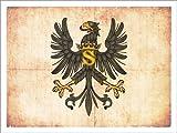 Posterlounge Alu Dibond 160 x 120 cm: Alte Flagge von Preussen von Christian Müringer Illustration Art