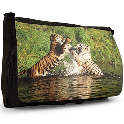 Fancy A Bag Borsa Messenger nero Tiger Bengal Tigers