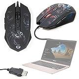 DURAGADGET Ratón gaming de alta precisión con luces led y diseño escorpión para Portátil Asus Laptop X507 / Asus ROG Strix SKT T1 Hero Edition / Acer Nitro 5 (AN515-42) / Acer Spin 3 SP315-51