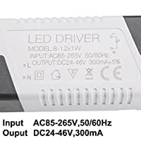 Sourcingmap Constant Current 300mA High Power LED Driver DC Connector External Power Supply LED Ceiling Lamp Rectifier Transformer from Sourcingmap