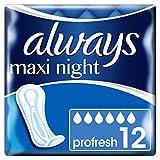 Always Maxi Night ProFresh Servietten ohne Flügel 12Hüllen Einzelzimmer-4Stück