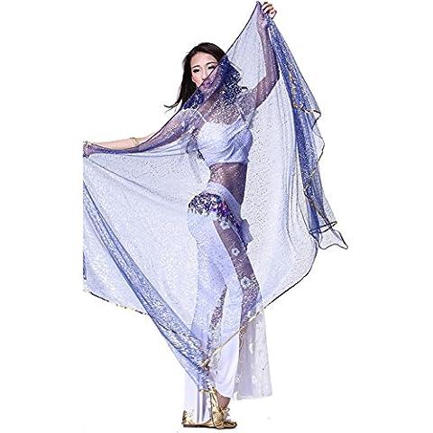 Danza del Vientre Accesorios seda chal velo bufanda danza del vientre 240cmx120cm
