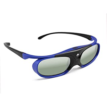 cd65f1be5 FORNORM 3D Active Shutter Glasses With DLP Link, Blue 144Hz Rechargeable 3D  Glasses for Myopia People Support 3D DLP Link Projectors for ...