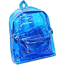 OULII Transparente Mochila Cute School Shoulder Bag Caramelo Color Satchel para los niños ...