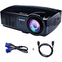 Proyector Full HD, Proyectores LED 3200 Lúmenes 1080P