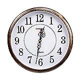 ufengke Horloge Murale Silencieuse Vintage Pendule Murale Quartz Ronde Chiffre Grande pour Salon Salle a Manger Chambre, Diamètre 30cm