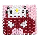 """Bracelet Kandi """"Hello Kitty Deadmau5"""", bracelet kandi, bracelet à perles, bracelet perlé, pour Halloween festivals de musique et rave parties"""